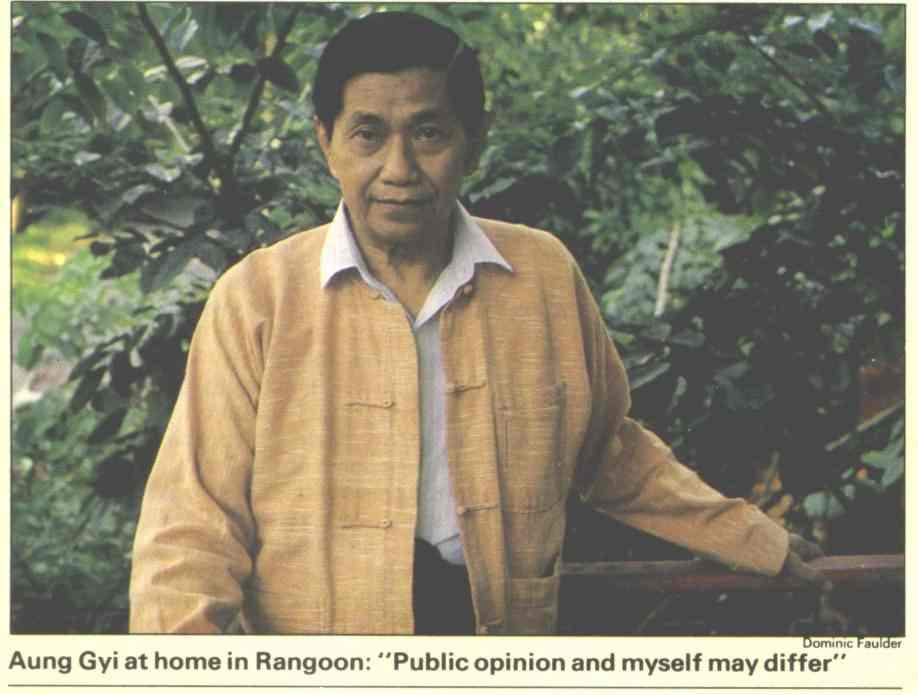 Aung Gyi in Rangoon 1989